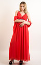 Strappy Maxi Dress with Sequin Embellished Waist in Coral by CY Boutique