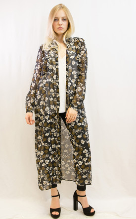 Multi Floral Printed Maxi Shirt Dress by CY Boutique
