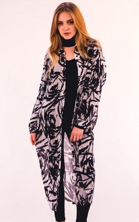 Floral & leaves print long shirt dress by CY Boutique