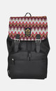 Knitted stripe panel Laptop Backpack by The Left Bank