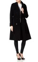 Natasha Black Military Trench Coat by De La Creme Fashions