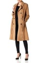 Natasha Camel Military Trench Coat by De La Creme Fashions