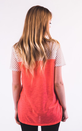 Fresh summer T-shirt with White Mesh in Red by CY Boutique