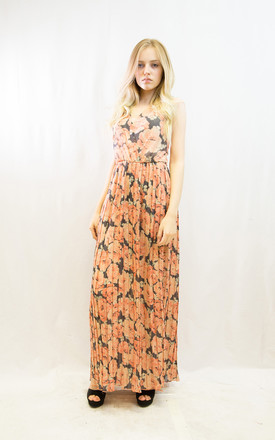 Sleeveless Wrap Maxi Dress in Rose Floral Print by CY Boutique