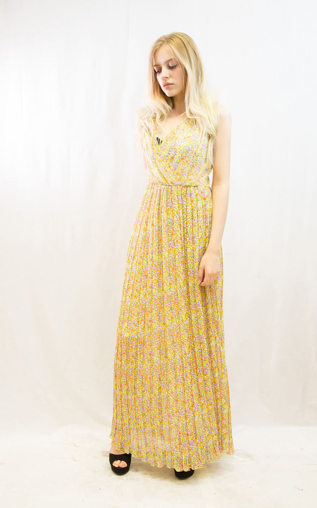2161b070ec ... Small Floral print Wrap Maxi Dress by CY Boutique ...