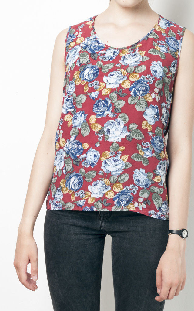 90s vintage rose print tank top by Pop Sick Vintage