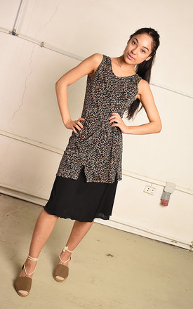 Vintage Y2K Paris chic layered midi dress in animal print by Lover