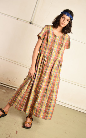 90s retro Paris chic midi dress with checked print by Lover