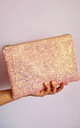 Glitter Clutch Bag in Bubblegum Pink by Suki Sabur Designs