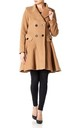 Elena Camel Wool Blend Fit And Flare Skater Coat by De La Creme Fashions