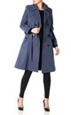 Vienna Navy Double Breasted Trench Mac by De La Creme Fashions