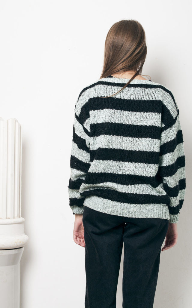 90s vintage striped grunge knit jumper by Pop Sick Vintage