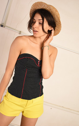 Y2K retro polka dot festival corset Paris chic top by Lover