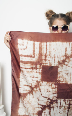 80s vintage tie dye silk scarf by Pop Sick Vintage