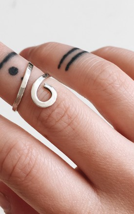 Sterling Silver Egyptian Midi Ring by Soleil Store