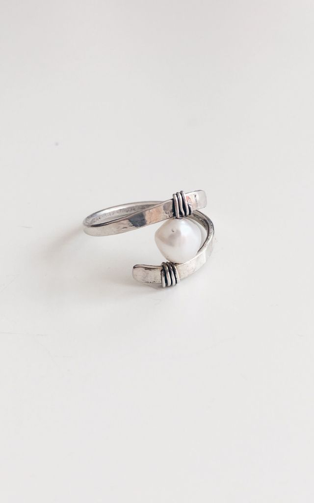 Sterling Silver Fresh Water Pearl Ring by Soleil Store