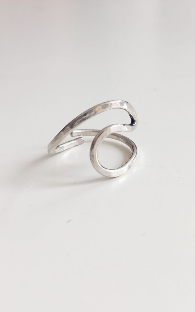 Sterling Silver Wave Ring by Soleil Store