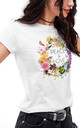 Peace & Love Slim Fit T-Shirt in White by Fashionkilla