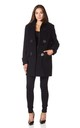 Andrea Black Duffle Coat by De La Creme Fashions