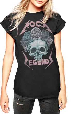 Rock Legend Skull T-Shirt in Black by Fashionkilla