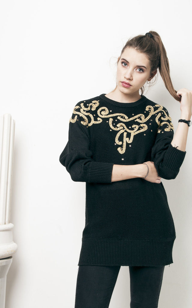 80s vintage long knit jumper by Pop Sick Vintage