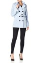 Rebecca Light Blue Belted Short Pea Coat by De La Creme Fashions