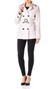 Rebecca Pink Belted Short Pea Coat by De La Creme Fashions