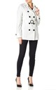 Rebecca Off White Belted Short Pea Coat by De La Creme Fashions