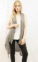 Sleeveless Long Cardigan in Grey by CY Boutique