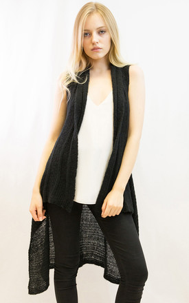 Sleeveless Wool Knitted long Cardigan by CY Boutique