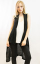 Sleeveless Long Cardigan in Black by CY Boutique