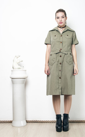 70s vintage military dress by Pop Sick Vintage