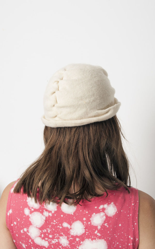 70s vintage knit snowflake hat by Pop Sick Vintage