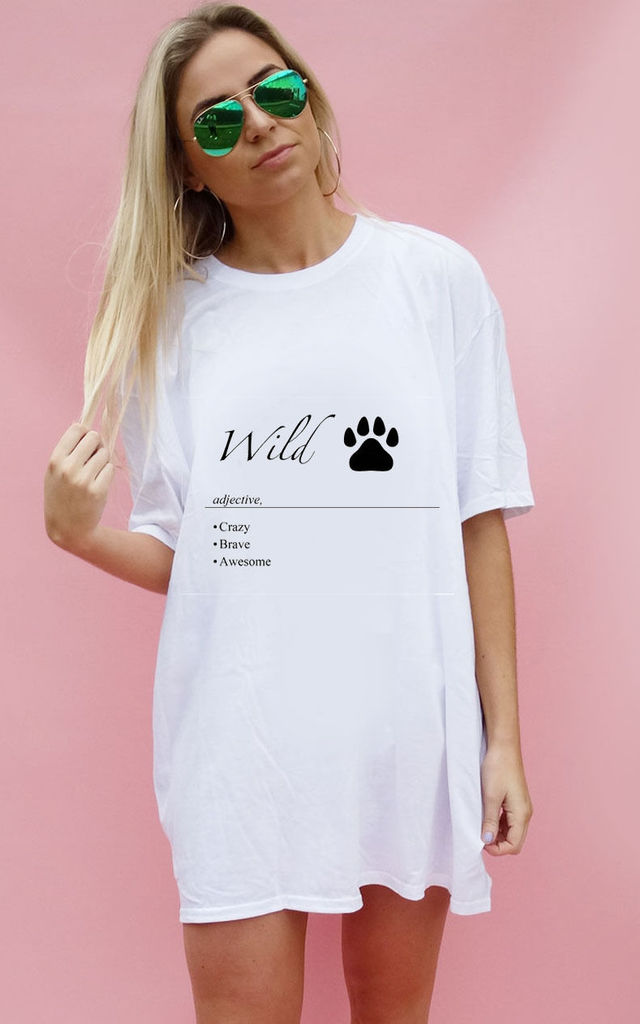 Wild Defintion Oversize White T-shirt by Sade Farrell