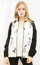 Bomber Jacket in Black and White Floral Print by CY Boutique