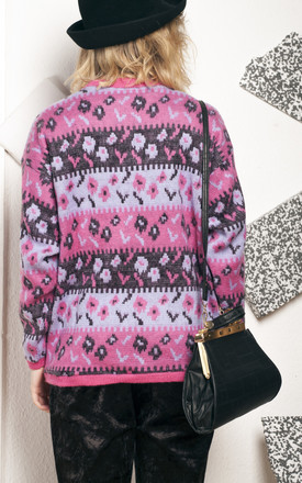Knit jumper - 90s vintage pink sweater by Pop Sick Vintage