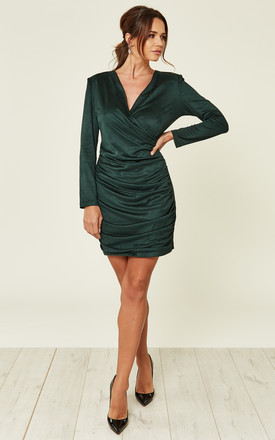 Pretty Lady Suedette Dress   Green by Jovonna London Product photo