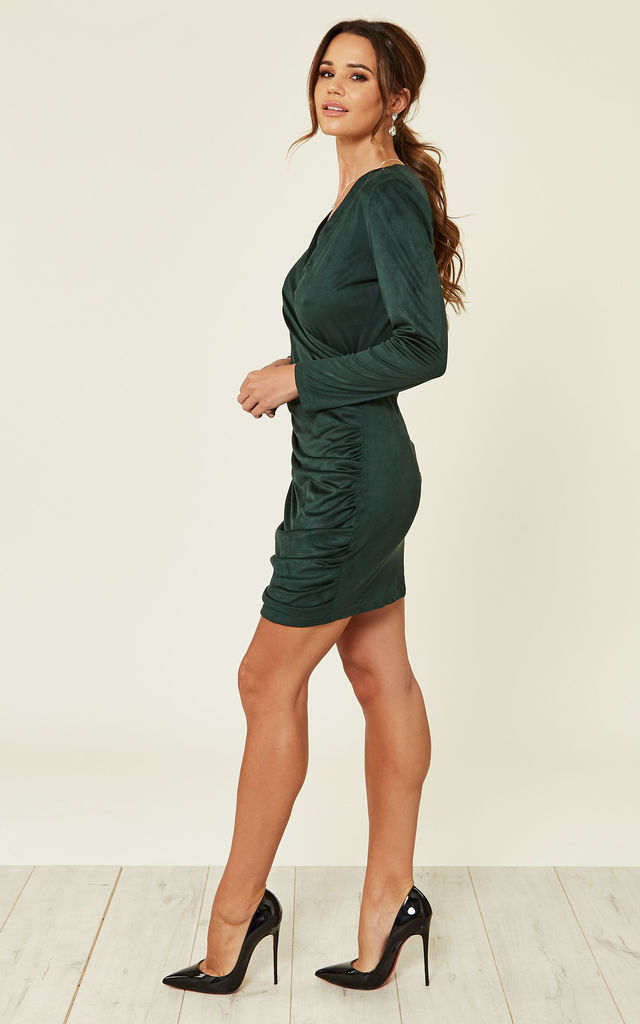 Pretty Lady Suedette Dress - GREEN by Jovonna London