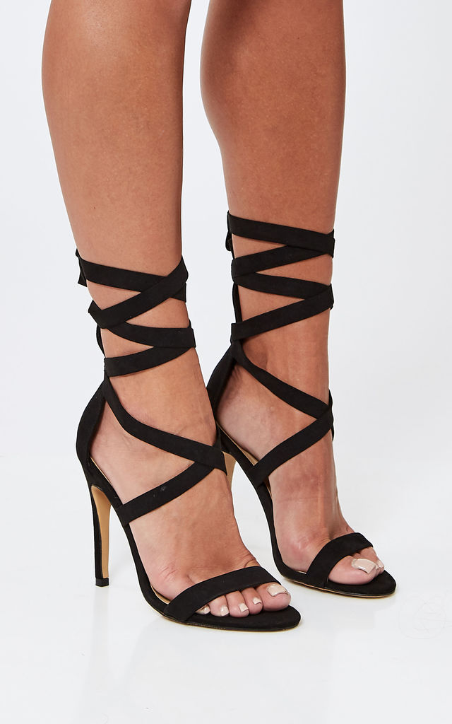Black Stiletto with Ankle Tie by Truffle Collection