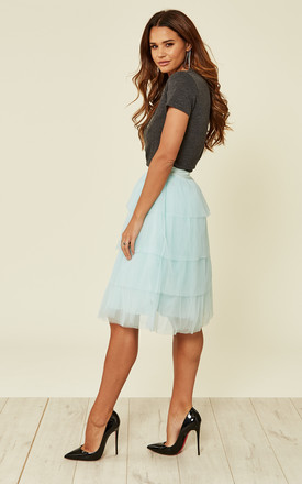 LAYERED RUFFLE MIDI SKIRT by True Decadence
