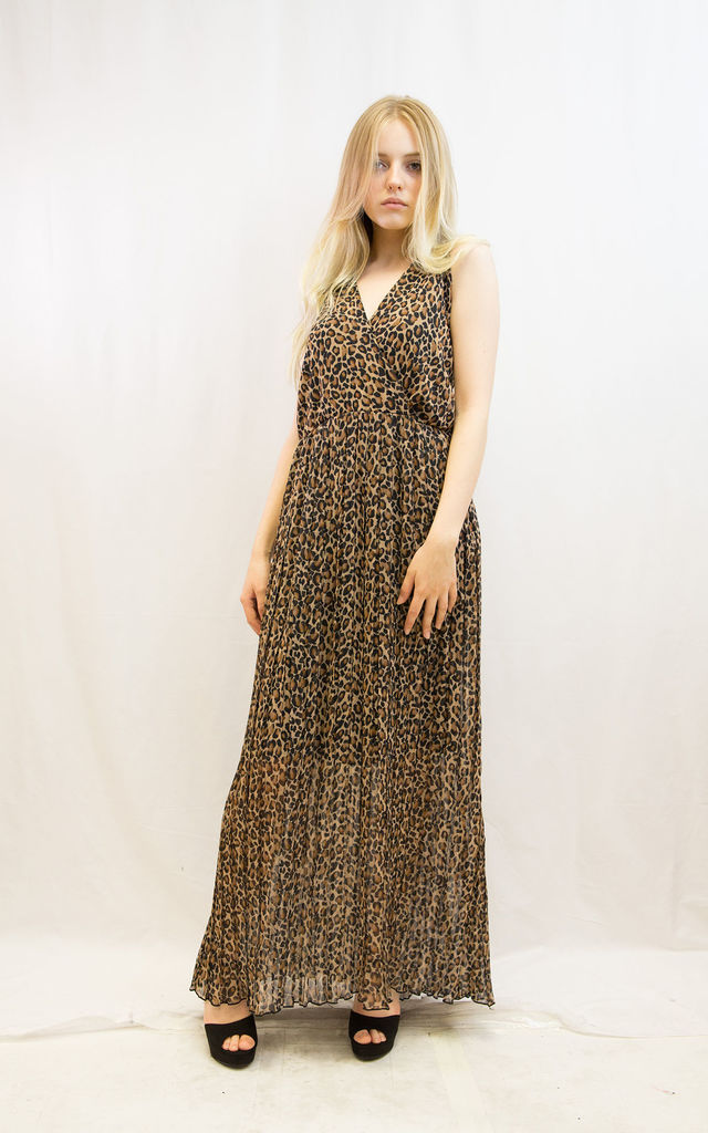 45de250943 ... Brown leopard print Wrap Maxi Dress by CY Boutique ...