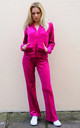 Hot Pink Velour Tracksuit | Long Sleeve Hooded Top/Jogging Bottoms by CY Boutique