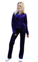 Velour Tracksuit with Long Sleeve Hooded Top and Jogging Bottoms in Purple by CY Boutique