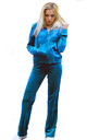 Turquoise Velour Tracksuit | Long Sleeve Hooded Top/Jogging Bottoms by CY Boutique
