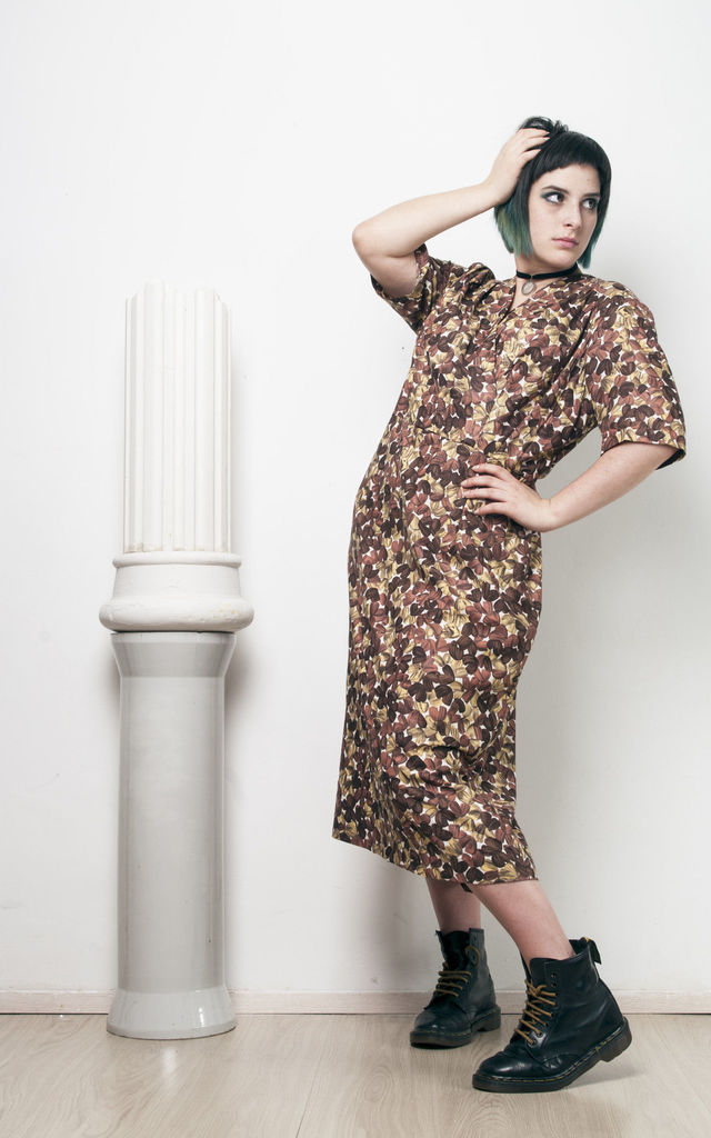 60s vintage leaf printed mod dress by Pop Sick Vintage