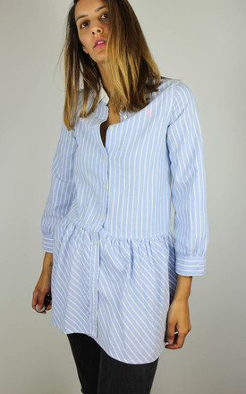 Vintage Ralph Lauren Stripe Shirt Top with Logo Front by Re:dream Vintage