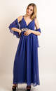 Strappy Maxi Dress with Sequin Embellished Waist in Blue by CY Boutique