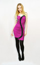 Bodycon Dress with Embellished S Design in Pink/Black by CY Boutique