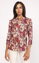 Lightweight shirt in red print by Lanti