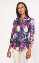 Floral lightweight shirt in navy by Lanti
